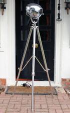 VINTAGE THEATRE LIGHT ART DECO FILM INDUSTRIAL LAMP OLD STAGE STRAND 123 TRIPOD