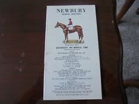 NEWBURY NATIONAL HUNT RACE CARD - 9TH MARCH,1968 - MARCH MEETING SECOND DAY
