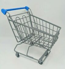 Miniature Chrome Metal Shopping Cart Toy Doll Cart Doll Size New