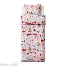 IKEA LEKRUM - Duvet Cover and Pillowcase Twin Pink Kids Bedding