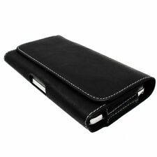 FUNDA NOKIA 6 negra CLIP CINTURON BELT POUCH LEATHER PU COQUE