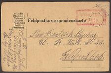 AUSTRIA / POLAND. 1917. WW1. FELDPOST. RED VON DER ARMEE IM FELD. MICHOV RUSKY P