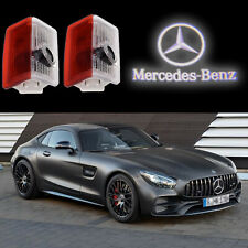 2Pcs Car LED Door Laser Projector White Logo Lights Emblem For Mercedes Benz