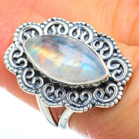 Rainbow Moonstone 925 Sterling Silver Ring Size 6.25 Ana Co Jewelry R44708F