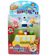 Pororo Kindergarten Mini Bus Toy Car Sound Character Animation Children Kid Gift