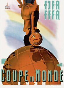 1938 FIFA World Cup Poster (France) - 8x10 Color Photo