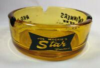 Vintage Joe Mackies Star Winners Inn Red Bull Casino Winnemucca NV Amber Ashtray