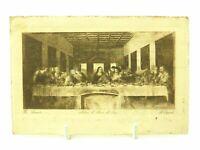 Antique printed postcard The Last Supper Leonardo artist signed