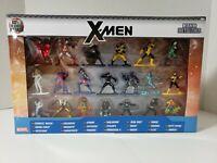 "Nano Metalfigs Marvel X Men 20 Pack Miniature Diecast Figures Multi Color 1.65"""
