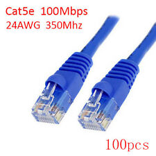 Lot 100pcs 6Ft RJ45 8P8C 24AWG 350Mhz 100Mbps LAN Ethernet Network Patch Cable