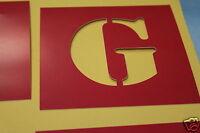 LETTRE [G] Pochoir pour marquage PEINTURE au sol ou Tshirt. 8cm haut PVC.