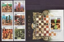 Guinea # 1409A-G MNH Complete W/SS Chess Games