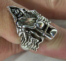 Grim Reaper On Bike Rings heavy metal biker new Br143 bikers fashion jewelry