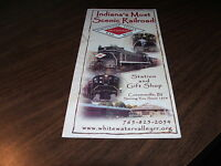 WHITEWATER VALLEY RAIL ROAD THE CANAL ROUTE TIMETABLE AND BROCHURE