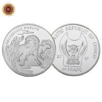 WR Endangered Wildlife Lion Animal Medal Silver Congo 10 Francs Coin 2017
