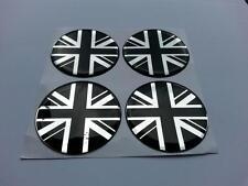 Centro de centro de rueda de aleación 60mm insignias Union Jack GB varios logotipo 16m (B/C)