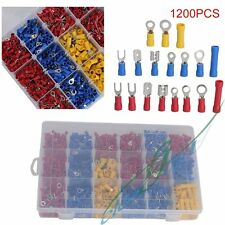 1200 Pcs Assorted Insulated Electrical Wire Terminal Crimp Connector Spade Set