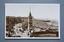 R&L Postcard: Clock Tower and Sands Margate, Early Cars & Motor Bus