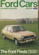 CAR BROCHURE: FORD CARS - JUNE 1978 (INCLUDES ESCORT RS 2000/RS MEXICO)