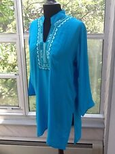 Ladies Embroidered Blue Tunic - M/L