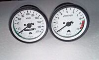 YAMAHA RD250 RD 350 RD400 SPEEDOMETER & TACHOMETER SET -RPM METER CLUSTER