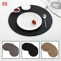 Jacquard Non Slip Placemats Jacquard Round Table Placemats Set of  6