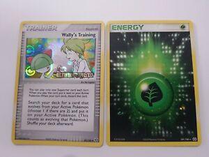 Wallys Training & Grass Energy Pokemon Holo Cards TCG EX Emerald