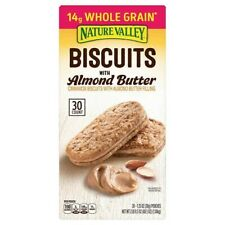 2 Packs Nature Valley Biscuits with Almond Butter, 1.35 oz, 30-count