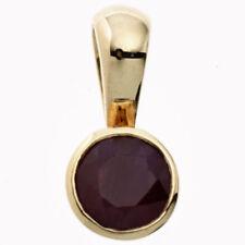 Unbehandelte Echtschmuck-Halsketten & -Anhänger aus Gelbgold Rubin