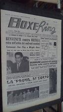 BOXE RING N.39 1963 - BENVENUTI CONTRO ORTEGA - BURRINI AGUADO - AZZURRI TOKIO