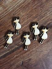 5 x Wooden Mini LITTLE GIRL/doll EMBELLISHMENT Craft Card Scrapbook Art sd251