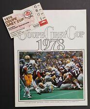 1978 Exhibition Stadium Grey Cup CFL Program Edmonton vs Montreal + Ticket Stub