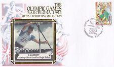 (81730) Spain Cover Barcelona Olympics Canoeing G Marriott 1992