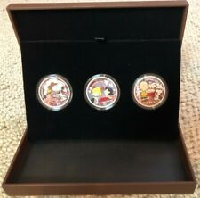 NIUE •  2010 $2 Peanut 60th Anniversary 1oz Silver Proof •  3pc Color Coin Set