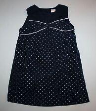 New Gymboree 5T Girls Polka Dot Bow Smock Top Dress Prep Perfect Navy Blue White