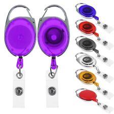 Retractable Carabiner Recoil Keys Ring Pull Chain Badge ID Card Holder Belt Clip