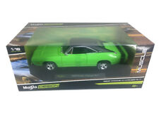 1969 Dodge Charger R/T Green with Black Top 1:18 Diecast Model - 32612grn