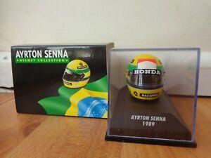 MINICHAMPS 1/8 Clásico Mclaren Honda 1989 Ayrton Senna F1 Fórmula 1 Casco