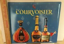 Vintage Courvoisier Cognac Embossed Metal Advertising Sign New Old Stock