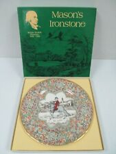 1983 Mason's Ironstone Plate: The Franklin Chaucer's Canterbury Tales