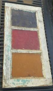 Reclaimed Stained Glass Window - 3 Pane - GREAT ANTIQUE WINDOW - NEEDS TLC