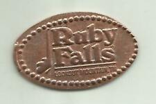 Elongated penny (cent) Ruby Falls Chattanooga Tn single-die machine, zinc coin