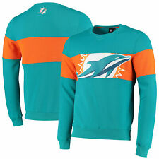 Miami Dolphins Cut And Sew Crew Neck Sweatshirt - Aqua - Mens
