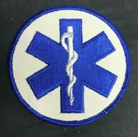 STAR OF LIFE FIRST RESPONDER EMT EMS FIRE DEPT. PARAMEDIC MEDIC PATCH 4 x 4