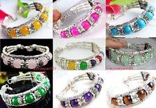 "Tibetan-Multicolor-Gemstone 10mm Beads-Tibet-Traditional-Bracelet 7.5"" 12style"