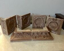 Antique ELEGANT ITALIAN Glazed Brick Tile Fireplace Mantle Fireplace Tiles Qty 6