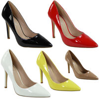 WOMENS LADIES OFFICE WORK PARTY GOING OUT STILETTO HIGH HEEL COURT SHOES SIZE