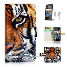 ( For HTC Desire 510 ) Case Cover! P0029 Tiger Face