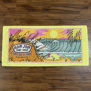 """VTG Ron Jon Surf Shop """"One Of A Kind"""" Cocoa Beach Florida Beach Towel 54""""x26"""""""
