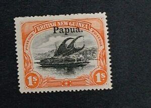 PAPUA 1906 1s SG 19 Sc 17 MLH